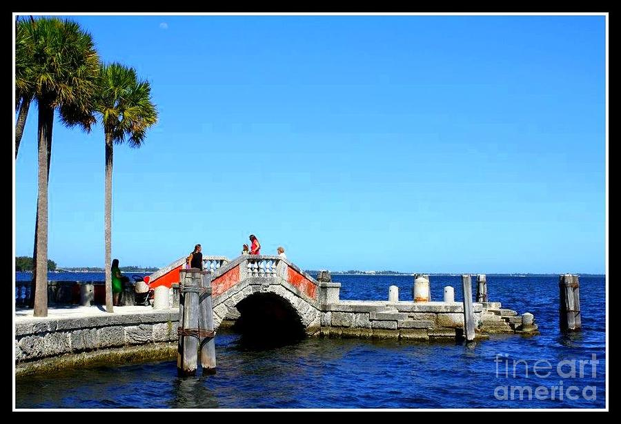 The Bridge At Vizcaya Photograph  - The Bridge At Vizcaya Fine Art Print