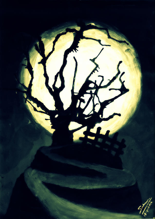 The Crooked Tree Painting