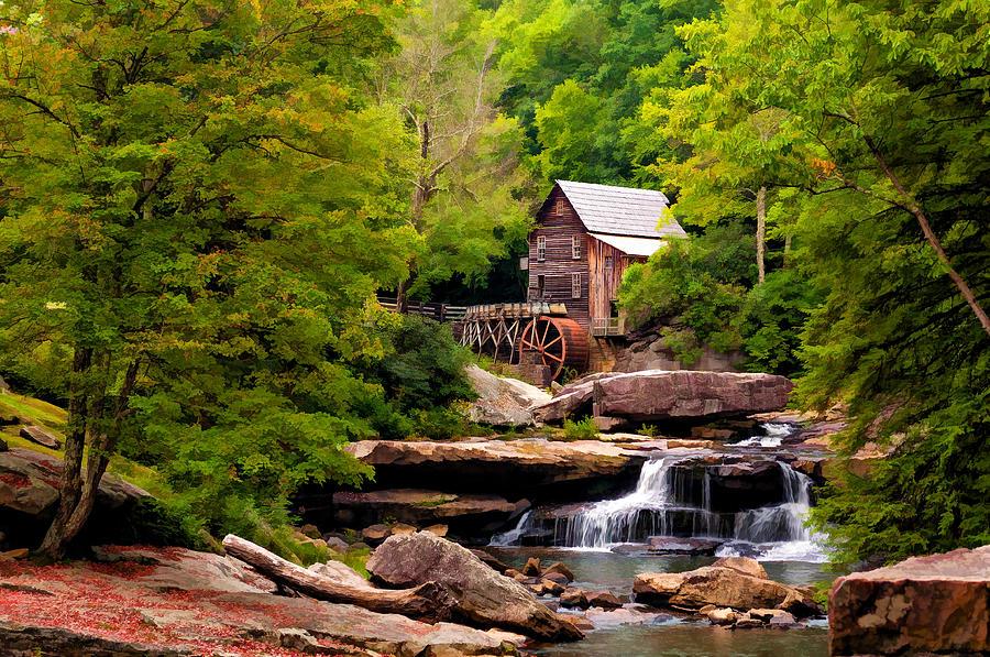 West Virginia Photograph - The Grist Mill Painted  by Steve Harrington