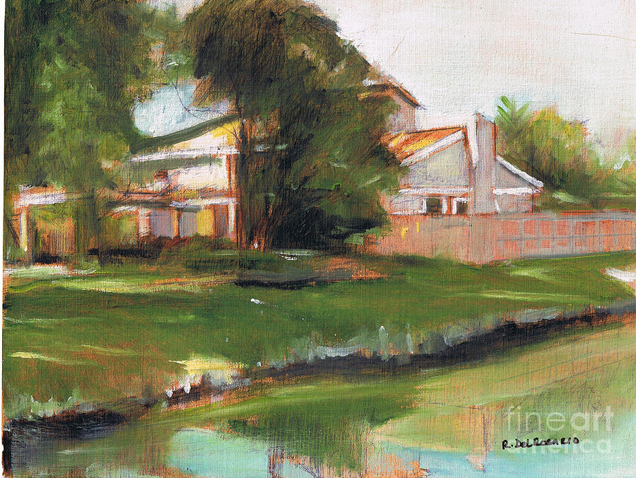 The House By The Lake Painting  - The House By The Lake Fine Art Print
