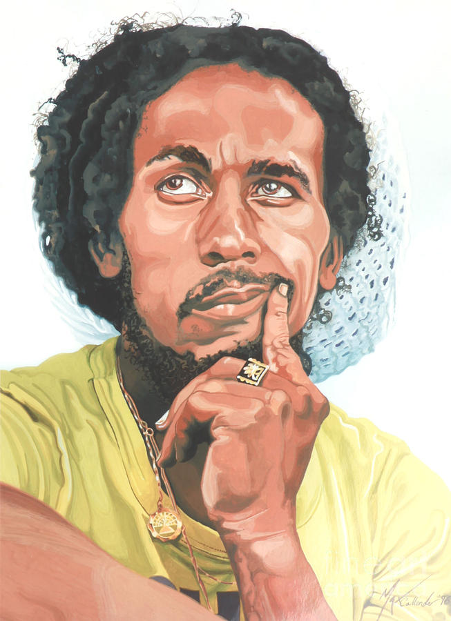 The King Of Reggae Painting  - The King Of Reggae Fine Art Print