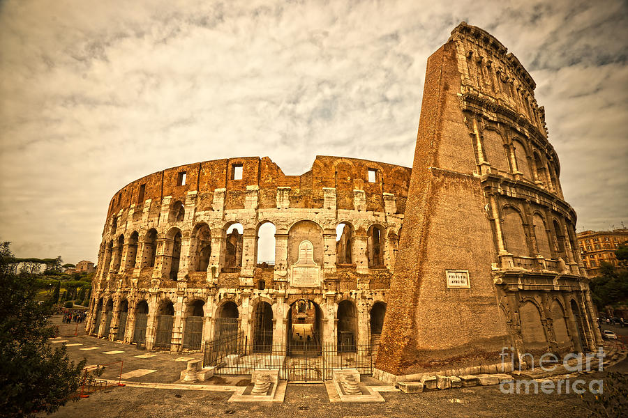 The Majestic Coliseum - Rome Photograph  - The Majestic Coliseum - Rome Fine Art Print