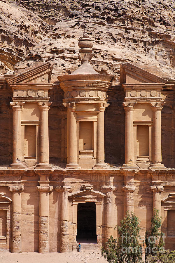 The Monastery At Petra In Jordan Photograph