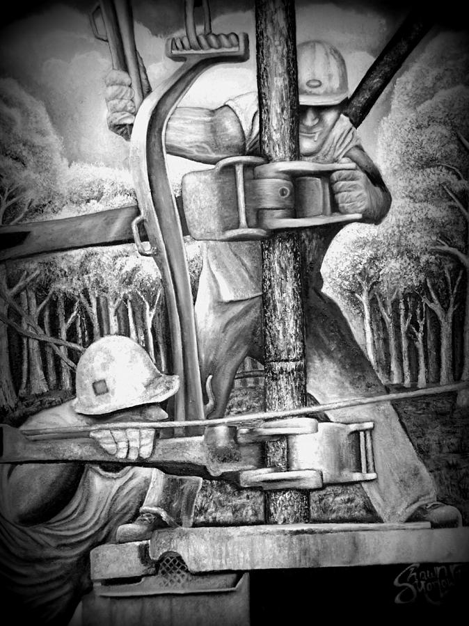 The Roughneck  Painting  - The Roughneck  Fine Art Print