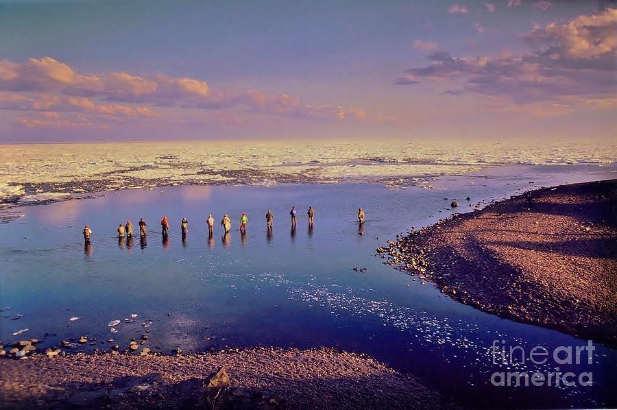 The salmon fishermen lake superior minnesota photograph by for Lake superior salmon fishing