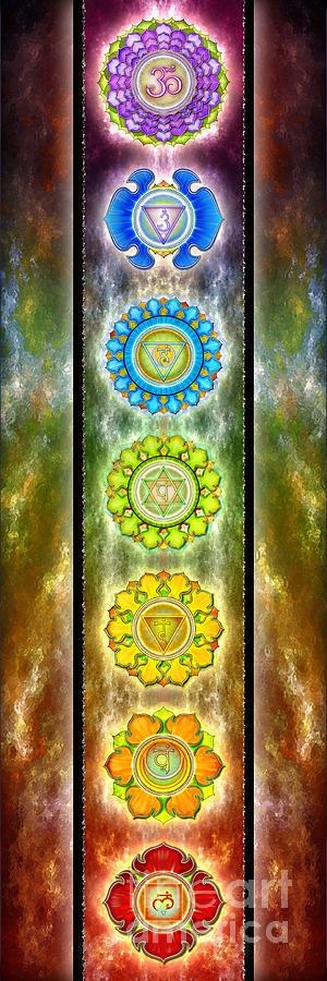 The Seven Chakras Series 2012 Digital Art