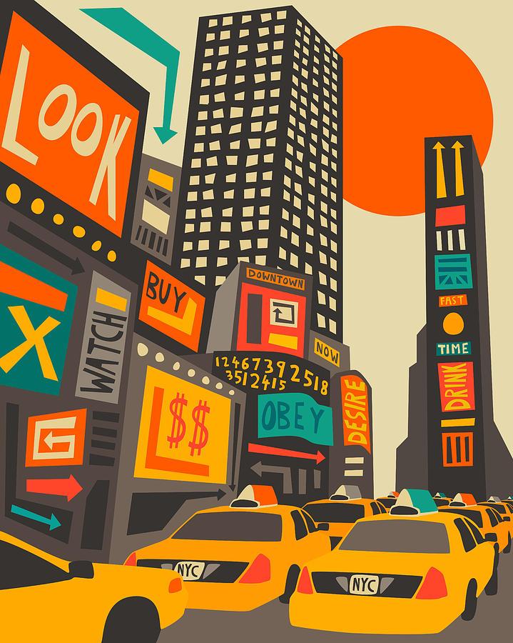 Time Square Digital Art
