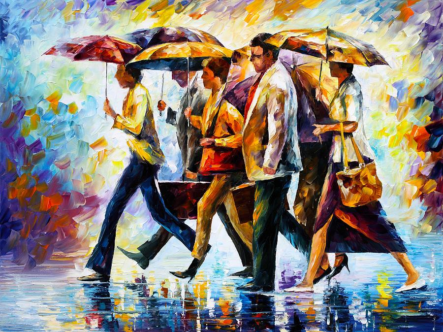Today I Forgot My Umbrella Painting by Leonid Afremov
