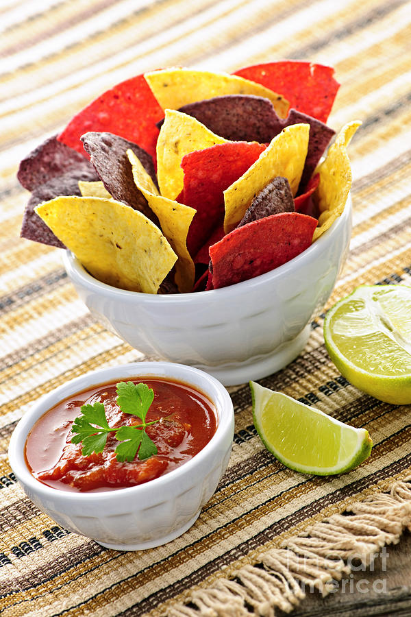 Tortilla Chips And Salsa Photograph  - Tortilla Chips And Salsa Fine Art Print