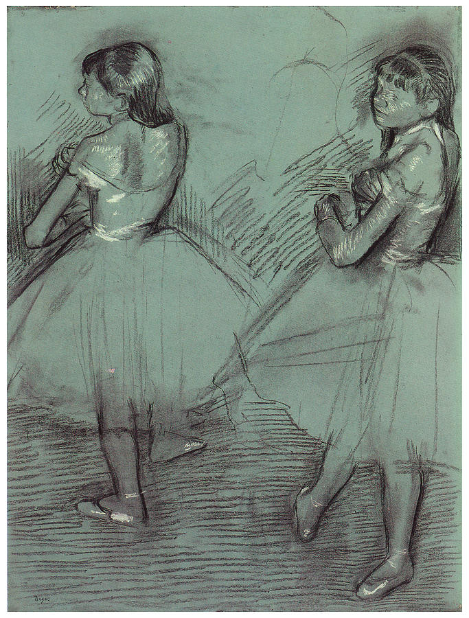 Two Dancers Drawing  - Two Dancers Fine Art Print