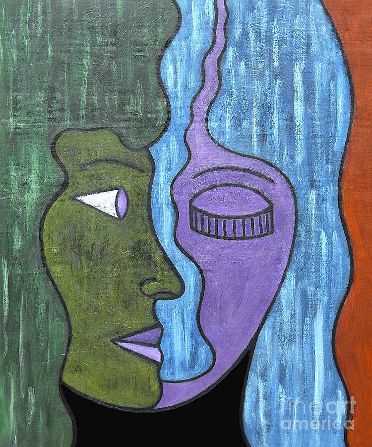 Two Minds Painting  - Two Minds Fine Art Print