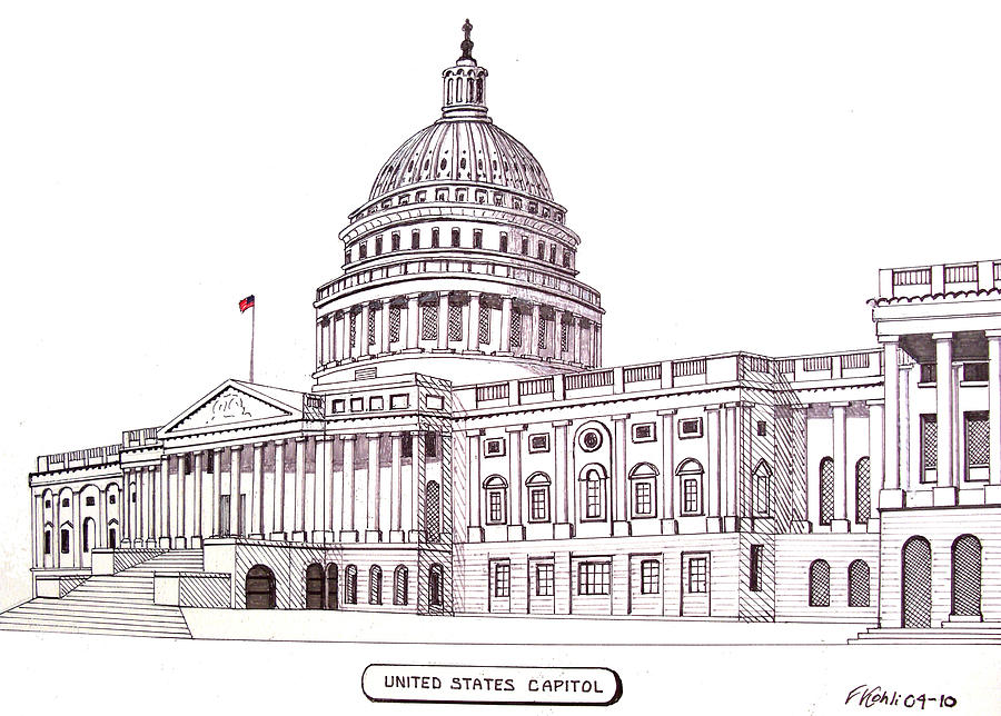 United States Capitol Drawing