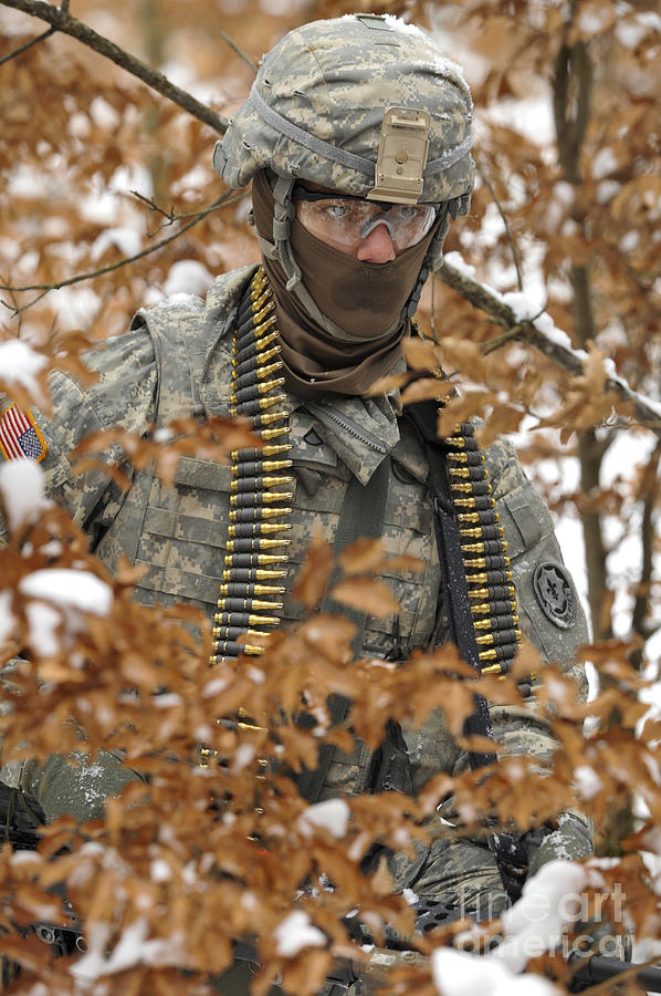 U.s. Army Soldier Conducts A Dismounted Photograph  - U.s. Army Soldier Conducts A Dismounted Fine Art Print