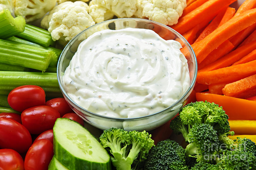 Vegetables And Dip Photograph