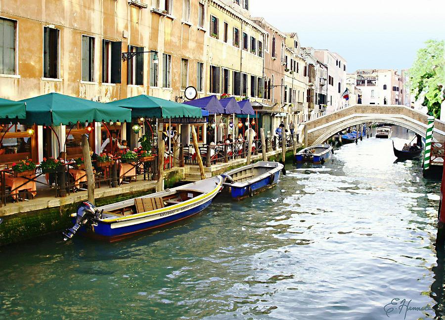 Venetian Cafes Painting