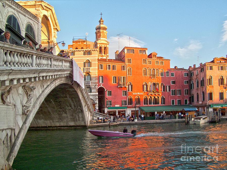 Venice Rialto Bridge Photograph