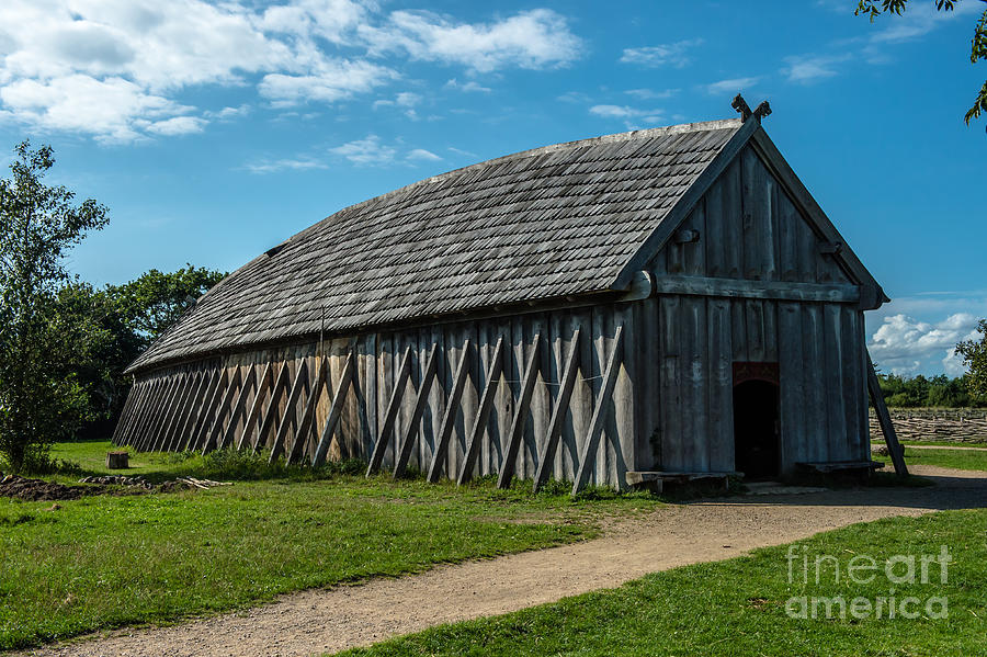 Long House Photograph - Vikings by Jorgen Norgaard