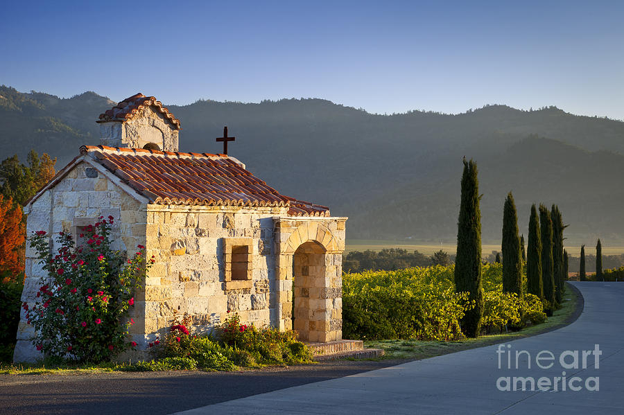 Napa Photograph - Vineyard Prayer Chapel by Brian Jannsen