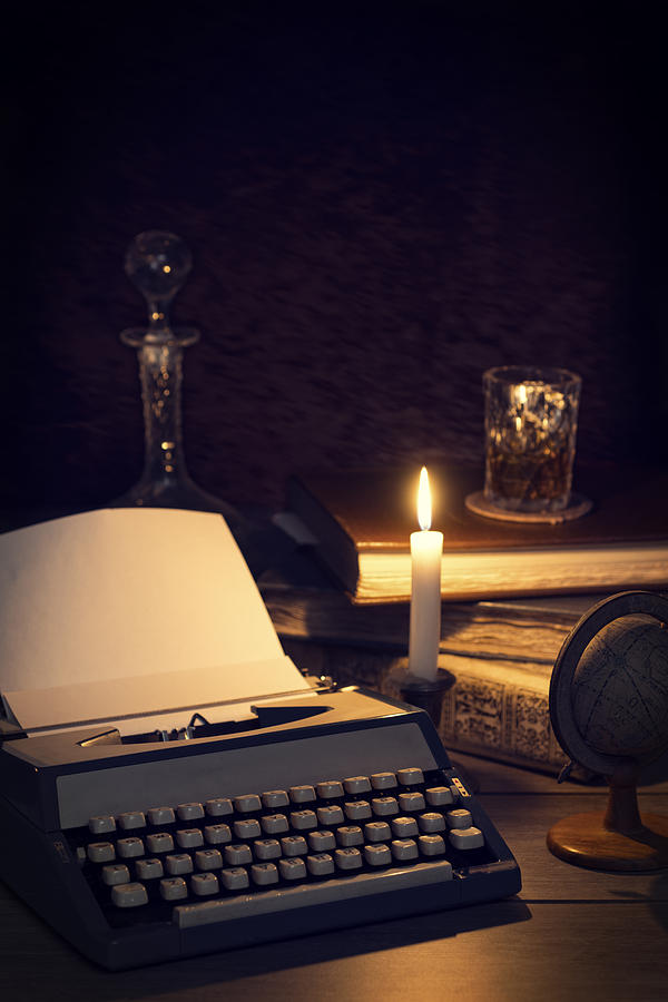 Glow Photograph - Vintage Typewriter by Amanda And Christopher Elwell