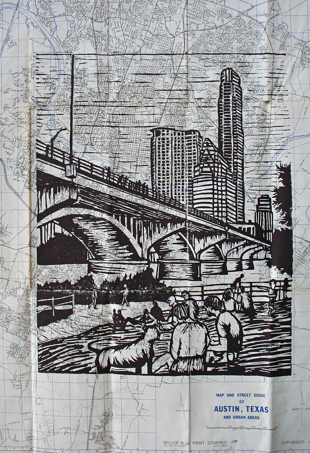 Austin. Bats Drawing - Waiting For The Bats by William Cauthern