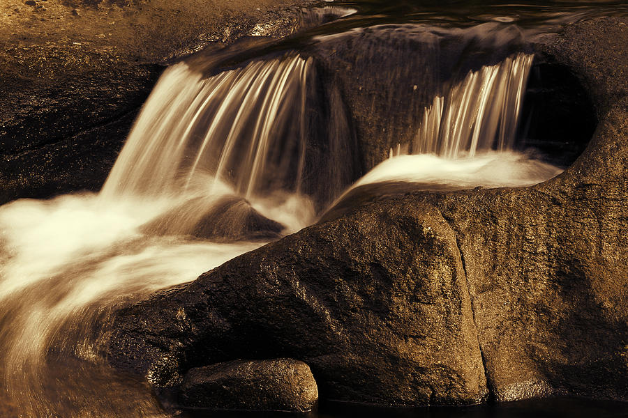Rock Photograph - Water Flow by Les Cunliffe