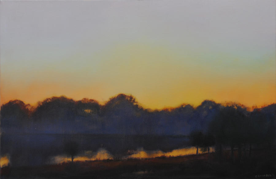 White Rock Lake Dusk Painting  - White Rock Lake Dusk Fine Art Print