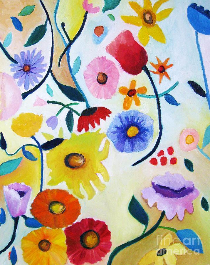 Wildflowers Painting - Wildflowers by Venus