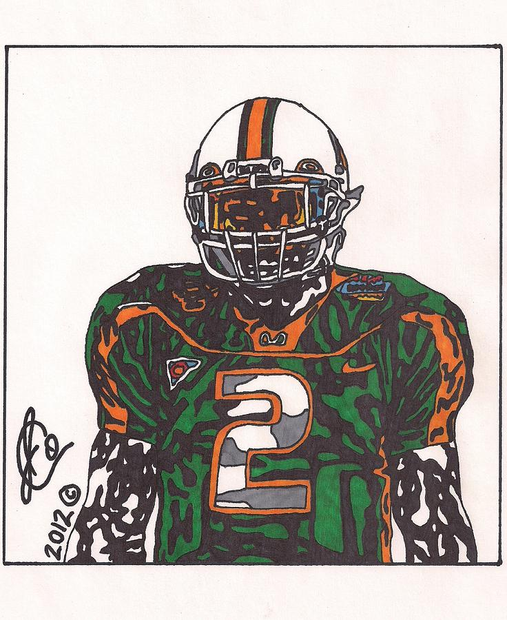 Willis Mcgahee Drawing  - Willis Mcgahee Fine Art Print
