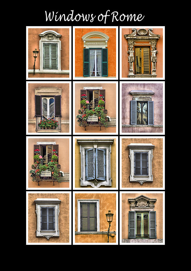 Windows Of Rome Photograph