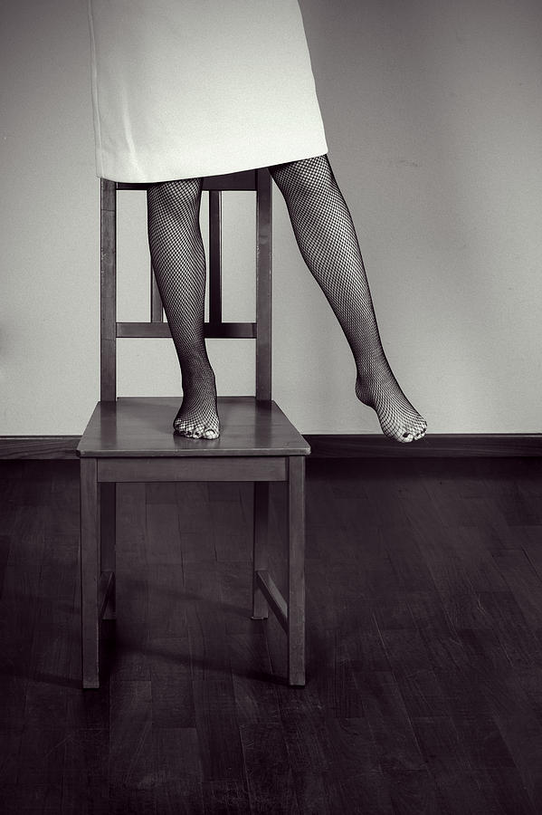 Woman On Chair Photograph  - Woman On Chair Fine Art Print