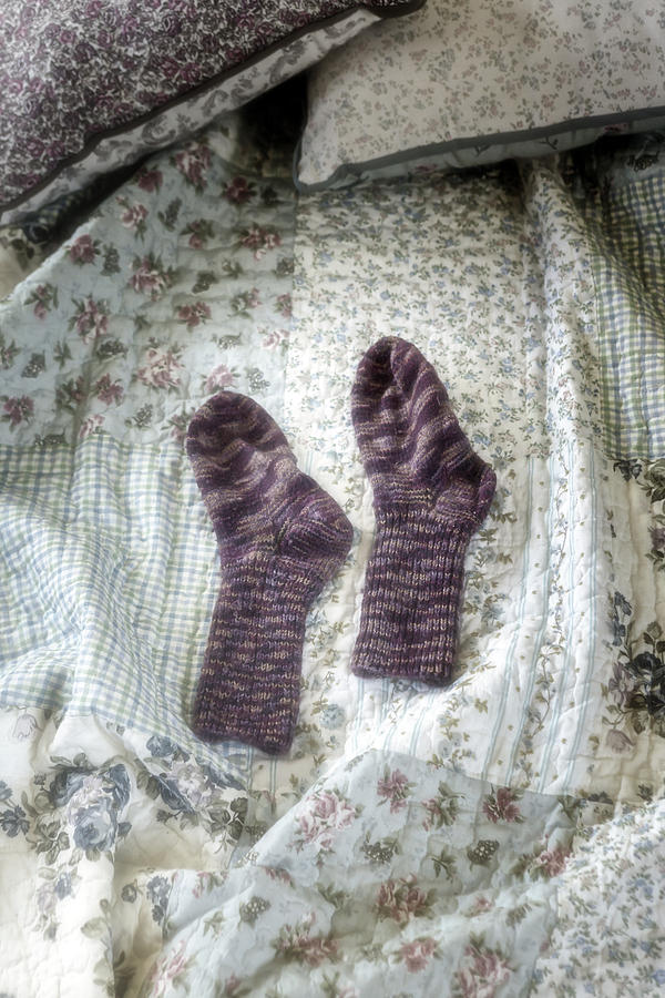 Hand-knitted Photograph - Woollen Socks by Joana Kruse