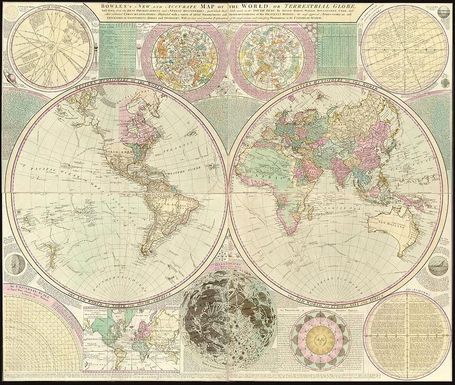 World Map Digital Art