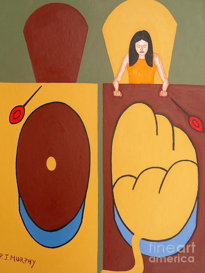 Third World Painting - 2 Worlds by Patrick J Murphy