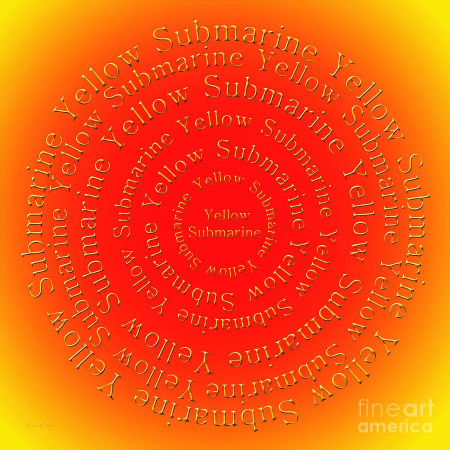 Yellow Submarine 3 Digital Art By Andee Design