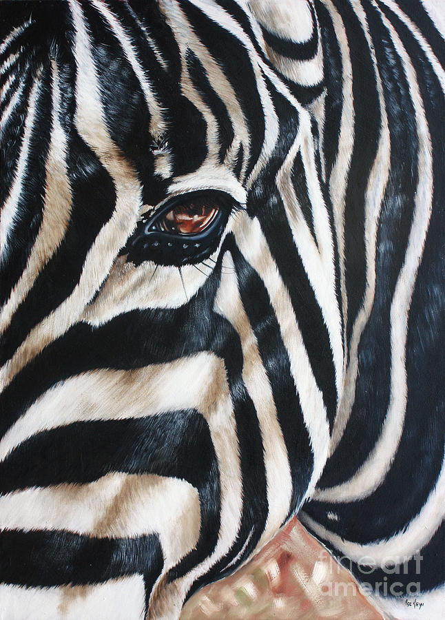 Zebra Painting - Zebra by Ilse Kleyn