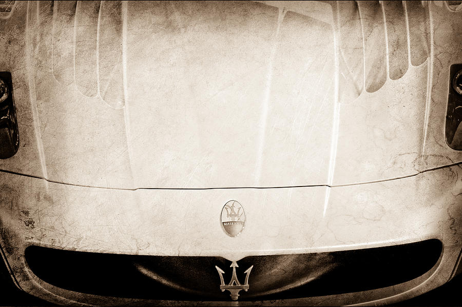 2005 Maserati Mc12 Hood Ornament Photograph  - 2005 Maserati Mc12 Hood Ornament Fine Art Print