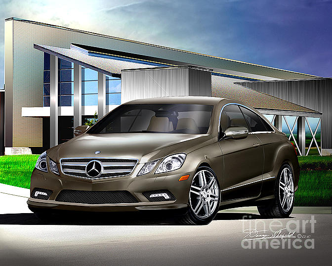 2009 mercedes benz e550 coupe drawing by danny whitfield. Black Bedroom Furniture Sets. Home Design Ideas