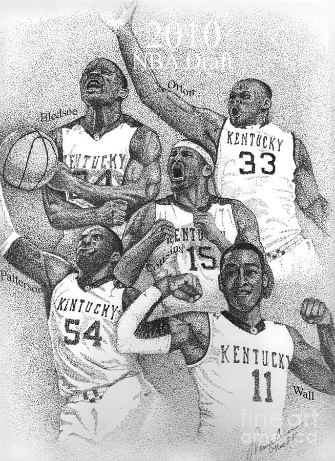 2010 Nba Draft Drawing  - 2010 Nba Draft Fine Art Print