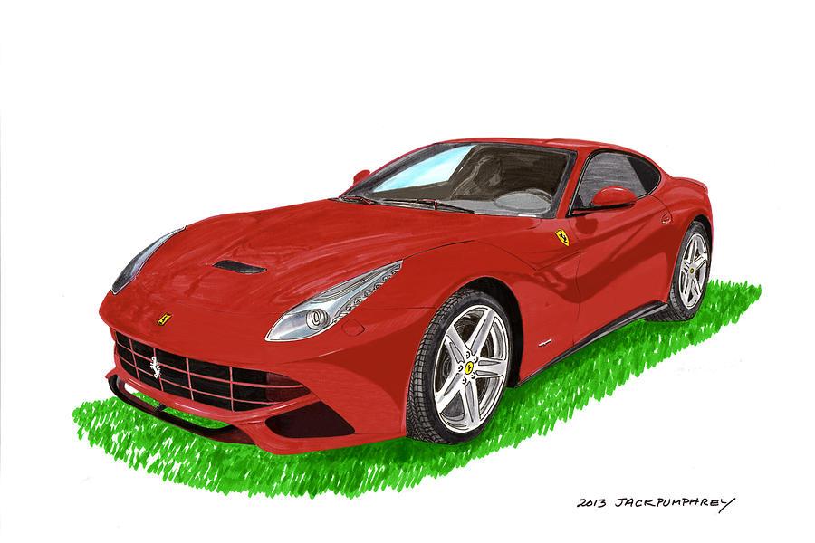 2012 F12 Ferrari Berlinetta Gt Painting