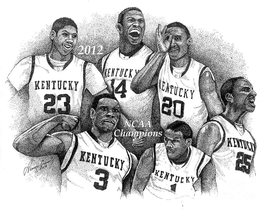 2012 Ncaa Champion Wildcats Drawing