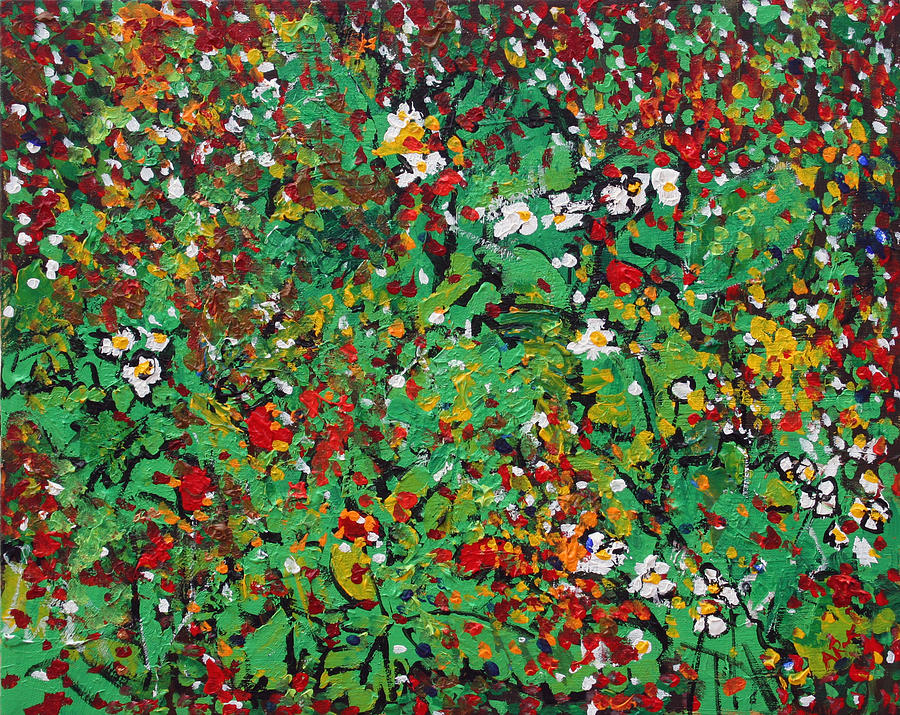 2014 22 Strawberry Plants Alexandria Virginia Painting