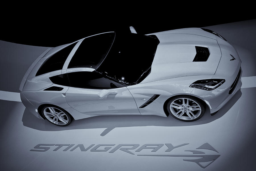 2014 Chevy Corvette  Bw Photograph