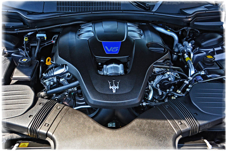 2014 Maserati Ghibli S Q4 Engine Photograph by Mike Martin