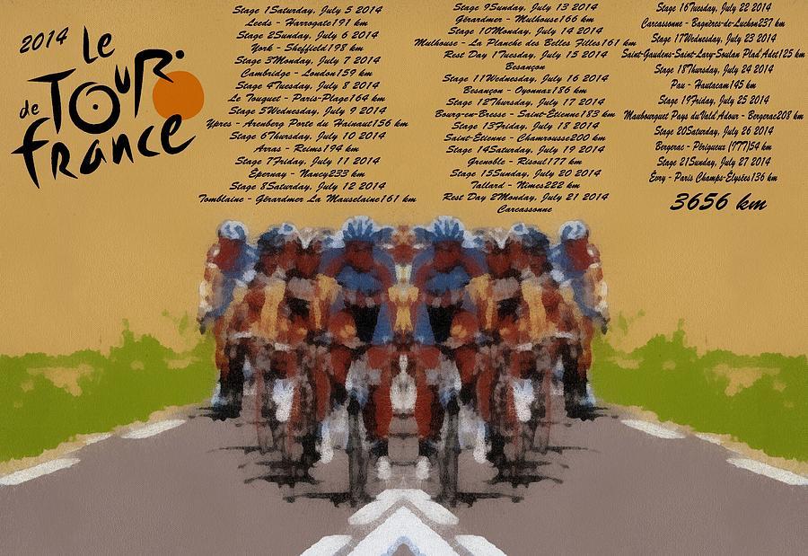 2014 Tour De France Digital Art