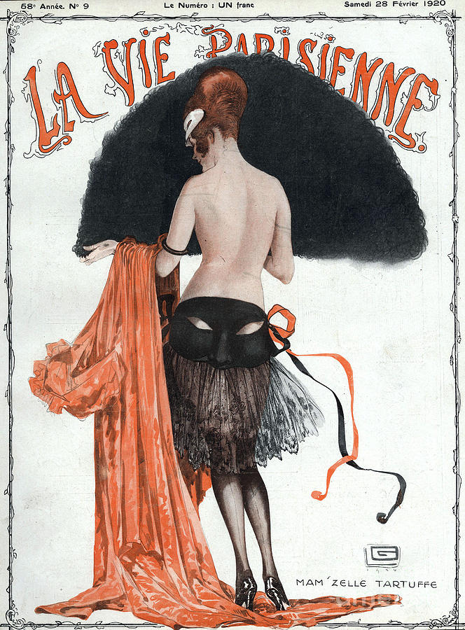 1920Õs Drawing - La Vie Parisienne  1920 1920s France by The Advertising Archives