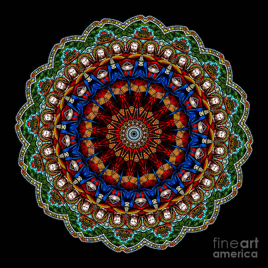 Kaleidoscope Stained Glass Window Series Photograph  - Kaleidoscope Stained Glass Window Series Fine Art Print