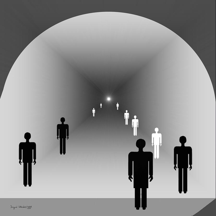 249 - The Light At The End Of The Tunnel   Digital Art  - 249 - The Light At The End Of The Tunnel   Fine Art Print