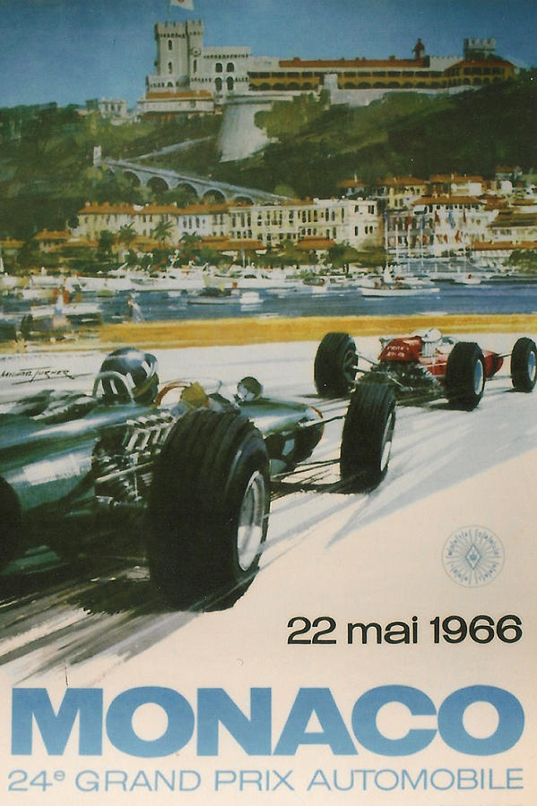 24th Monaco Grand Prix 1966 Digital Art  - 24th Monaco Grand Prix 1966 Fine Art Print