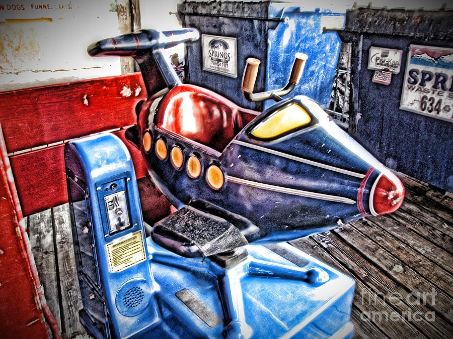 Airplane Ride Photograph - 25 Cents by Christina Perry