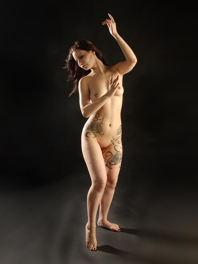 Black rose tattoo nude